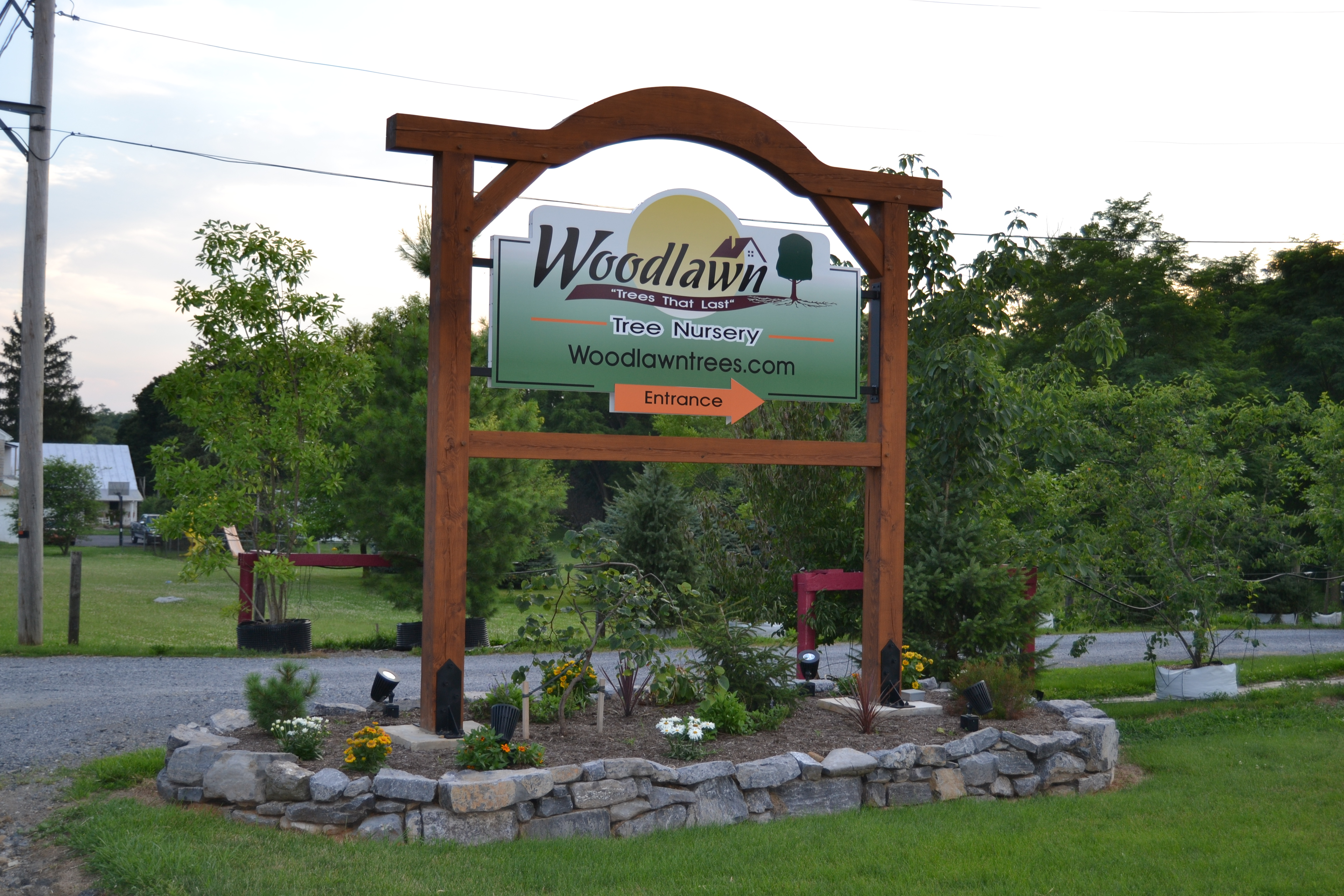 Woodlawn Tree Nursery sign